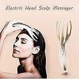 Hunpta Elektrische Massager Kopfhaut Vollkörper SPA Vibrierende Massage Pinsel Werkzeug (Weiß)