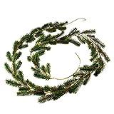 Girlande für Advent oder Hochzeit als Tür Deko grün 240 cm künstlich