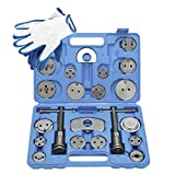 FreeTec 22pcs Heavy Duty Disc Brake Caliper Tool Set and Wind Back Kit for Brake Pad Replacement