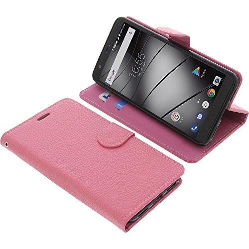 foto-kontor Tasche für Gigaset GS370 / GS370 Plus Book Style pink Schutz Hülle Buch
