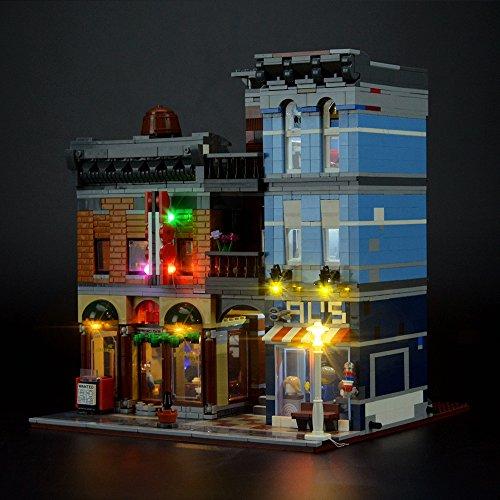 Conjunto de luces Lightailing para (Creator La Oficina Del Detective) Modelo de Construcción de Bloques - Kit de luz LED compatible con Lego 10246 (NO incluido en el modelo)