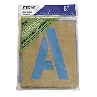 Graphic Products Plastic Stencil-It Reusable Lettering Set-8-inch