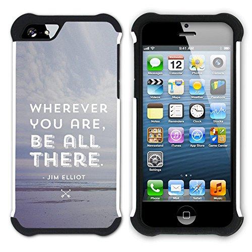 Graphic4You Hello? Englisch Zitat Nachricht Hart + Weiche Kratzfeste Hülle Case Schale Tasche Schutzhülle für Apple iPhone SE / 5 / 5S Design #9