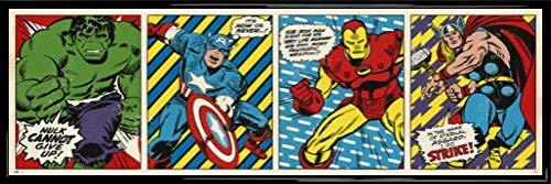 Los Vengadores Póster Puerta Marco Plástico - Marvel