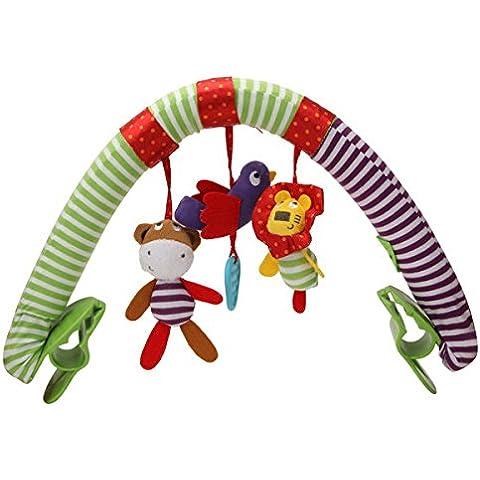 Paleo Niños bebé animal encantador musical suave con pinza cochecito traqueteos colgantes