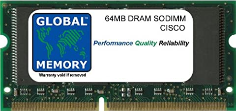 64MB DRAM SODIMM ARBEITSSPEICHER RAM FÜR CISCO 2801 ROUTER (CISCO P/N MEM2801-64D)