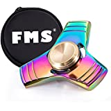 FMS Tri Fidget Hand Spinner Toy EDC Spinner metal High Speed Stainless Steel Bearing (Tri Spinner, Multicolor)