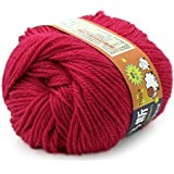 Fuchsia Red : Baby Yarn Handcraft Worsted 50G Sweater Wool Knitted Soft Knitting Warm