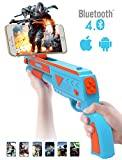 AR Gaming Gun Pistole Augmented Reality Game Controller Bluetooth 4.0 Joystick Wireless Handy Gamepad Kabelloses interaktive Video Schießen Spiele VR Rifle Gewehr für 3.5 bis 6 Zoll Android und iOS Smartphone Geräte