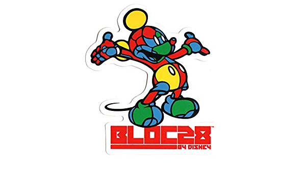 Addict X Bloc 28 Skateboard Sticker 10cm high approx official mickey mouse sk8