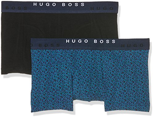 BOSS Hugo Boss Boxer 2P FN Print, Boxer Uomo, Verde (Open Green), XX-Large