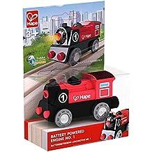 Hape–e3703–Circuito de tren (madera–Locomotora eléctrica