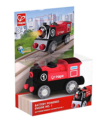 Hape-E3703-Circuit-de-Train-en-Bois-Locomotive-Electrique
