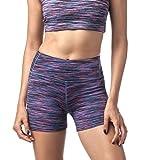 LAPASA Damen Sport Kurz Leggings, Yoga Tights Shorts, Blickdicht Figurformend Übergroße Stretch, 1 bis 2 Pack, mit Tasche L09