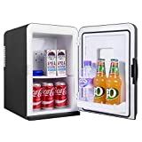 iceQ 15 Litre Deluxe Portable Mini Fridge With Window - Black
