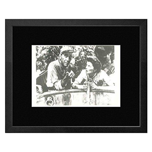 Humphrey Bogart African Queen (Stick It On Your Wall African Queen-Humphrey Bogart und khatarine Hepburn gerahmtes Mini Poster-17,5x 22.7cm)
