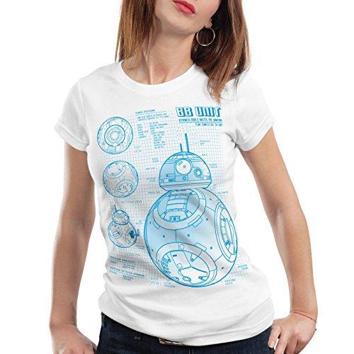 A.N.T. BB Unit T-Shirt Femme dessin ble Blanc