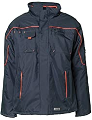 Planam Jacke Winter Piper, größe XXXL, marine / orange, 3536064