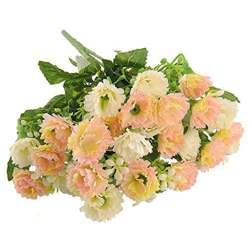 Kicode TOPmountain Künstliche gefälschte Seide Schön 25 Heads Nelke Blume Multi Color Bouquet Hausgarten Partei-Hochzeit Braut Dekor Herrliche