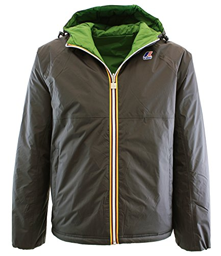 ALOIS PADDED DOUBLE915 ANTRACITE - GREEN Kway giubbotto da uomo reversibile colore antracite Antracite XXL