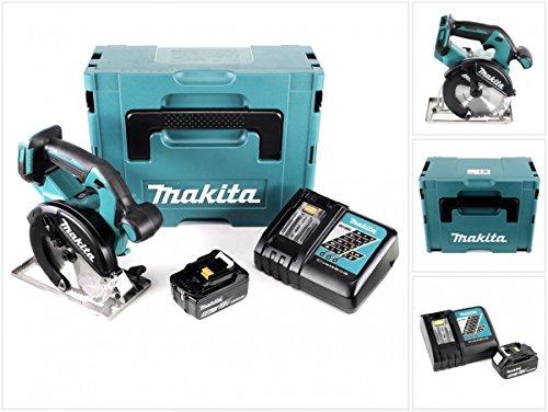 Preisvergleich Produktbild Makita DCS 551 RT1J Akku Metall Handkreissäge 18V Brushless 150 x 20 mm im Makpac mit Schutzbrille und 1x BL1850 5,0 Ah Akku und Ladegerät
