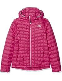 The North Face Thermoball, Chaqueta con Capucha para Niñas, Rosa (Petticoat Pink), S