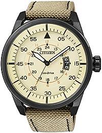 Citizen  AW1365-19P - Reloj de cuarzo para hombre, con correa de cuero, color beige