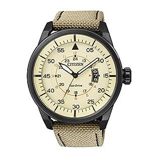 Citizen AW1365-19P – Reloj de Cuarzo para Hombre, con Correa de Cuero,