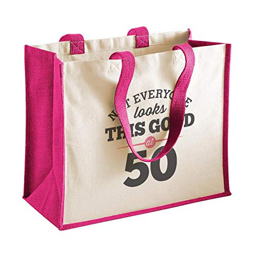 50th Birthday Tote Shopping Bag Gift