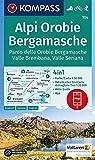 Alpi Orobie Bergamasche: 4in1 Wanderkarte 1:50000 mit Aktiv Guide und Detailkarten inklusive Karte zur offline Verwendung in der KOMPASS-App. ... 1:50 000 (KOMPASS-Wanderkarten, Band 104) -