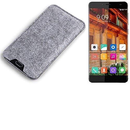 K-S-Trade Filz Schutz Hülle für Elephone S3 Lite Schutzhülle Filztasche Filz Tasche Case Sleeve Handyhülle Filzhülle grau
