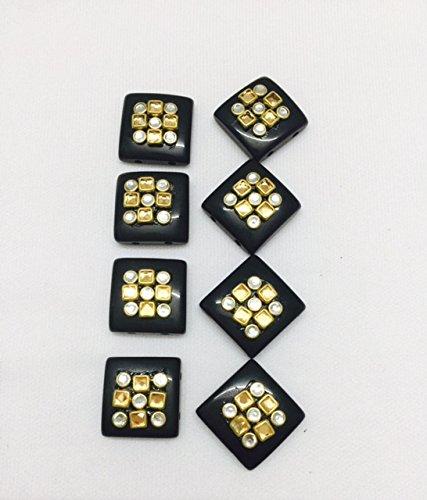 eerafashionicing Mena Work Square Shape Black Buttons for Ethnic Dresses