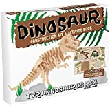 Tyrannosaurus Rex : Dinosaurier Holz 3D-Modell-Baukasten und Buch