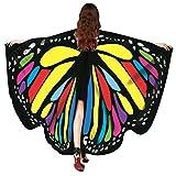 Echarpes en châle femme, KEERADS Women Butterfly Wings Shawl Foulards Ladies Nymph Pixie Poncho Costume Accessory (D)