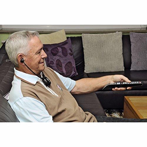 Thomson WHP5305BK Stereo Funk Kopfhörer TV/HIFI (getrennte Lautstärkeregelung, Ladestation, Kinnbügel, bis zu 120dB, digital) schwarz - 4