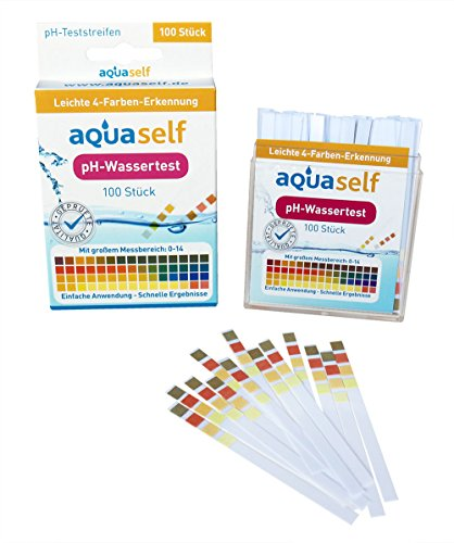 pH Wert Teststreifen (100 Stück); einfach, schnell und präzise in Flüssigkeiten pH Wert messen; großer Messbereich von 0 – 14