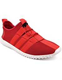 CF_Better Deals   Synthetic  Red-White Color Casual Shoe 