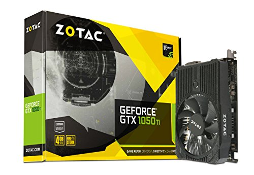 ZOTAC GeForce GTX 1050 Ti Mini Grafikkarte (NVIDIA GTX 1050 Ti, 4GB DDR5, 128bit, Base-Takt 1303 MHz, Boost-Takt 1417 MHz, 7 GHz) -