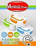 Maxell Power CE TARTERA ELECTRICA Multifuncional Taper PORTATIL Fiambrera Calentador DE Comida, colores surtidos