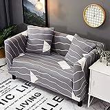 LYIKAI Sofabezug Muster Elastische Ecksofa Abdeckung Sofa Handtuch Spandex All-Inclusive-Anti-Slip-Sofa Deckel 1/2/3/4-Sitzer, 2-Sitzer/M