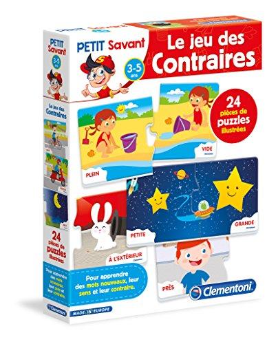 Clementoni Le contraires-Jeu éducatif, 52298