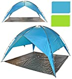 Outdoor Beach Shelter Garden Party Festival Camping Gazebo Tent Canopy With Ground Sheet (Green)