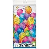Unique Party -  Mantel de Hule - 2,13 m x 1,37 m - Fiesta de Feliz Cumpleaños (45208)