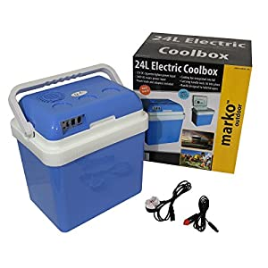 51ehQrKmG5L. SS300  - Marko Cool Box Food Drinks Cooler Electrical Heater Portable (24 Litre Electrical Coolbox)