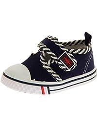 De Fonseca Niños Lienzo Barra en T Giancio 2 Velcro Zapatos Ligeros