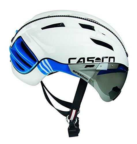 Casco Erwachsene Speedster-TC Plus Fahrradhelm, weiß/blau, L