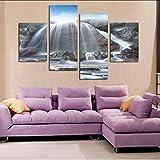 mubgo Leinwandbilder Modulare Bilder Leinwand Home Decoration Große Wandbilder Für Wohnzimmer Kunst Abstrakte Öl Moderne Chinesische Modulare,40x80x2 40x100x2