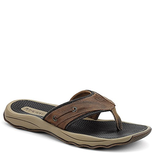 Topsider Thong Sperry Männer (Sperry Top-Sider Mens Outer Banks Thong,Brown (Boxed),US 14 M)