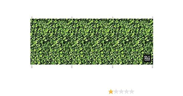 4 Stangen 122 cm bedruckt Strandh/ütte Laeto Windschutz f/ür Sport und Au/ßenbereich