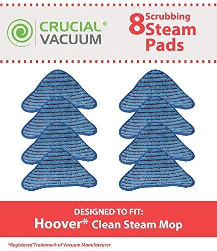 8Hoover Schrubben wh20200Pads für Dampfreiniger, passend für Hoover wh20200& wh20300, vergleichen zu Teil wh01000, entworfen und hergestellt von Crucial Vacuum
